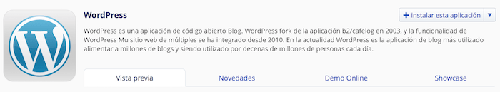 instalar wordpress para crear tu blog