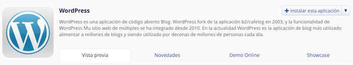 instalar wordpress para crear tu blog